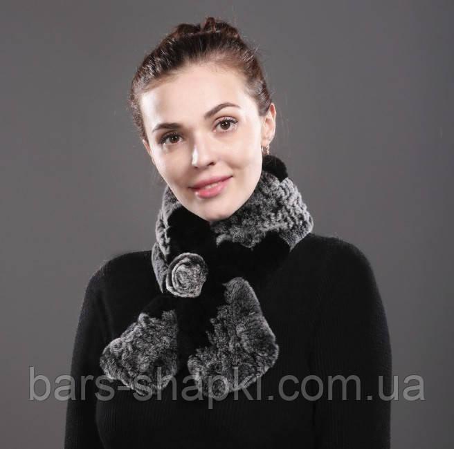 Красивый шарф из меха Rex Rebbit