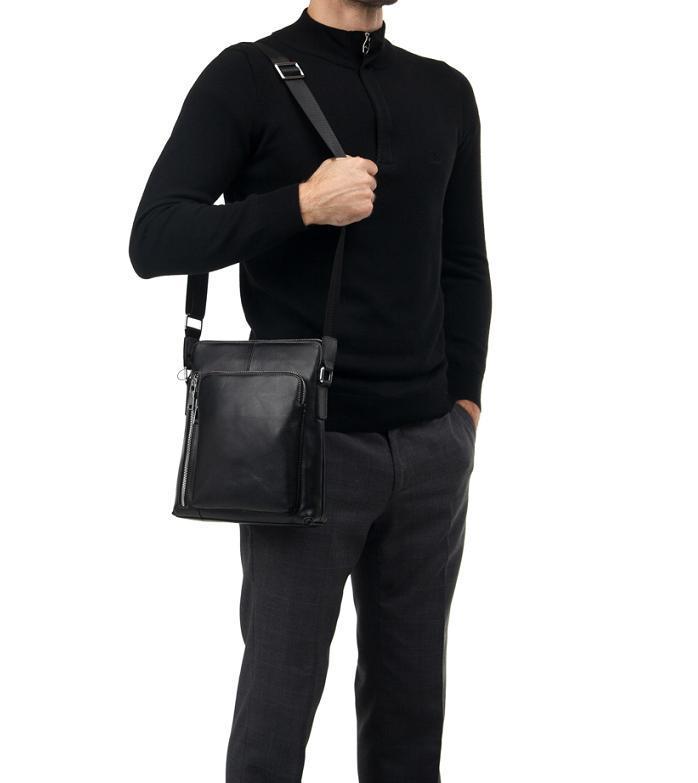 6eb6a56454c3 Мужская сумка через плечо натуральная кожа Tiding Bag : продажа ...