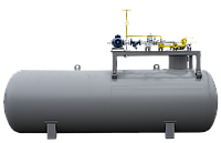 Подземный газовый модуль без колонки, фото 1