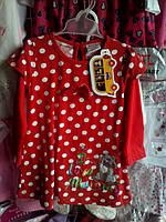 Платье красное в горошек 3,4,5 лет