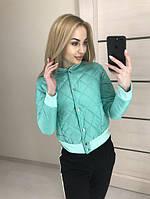 Женская стеганая куртка на пуговицах