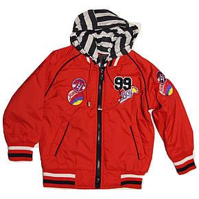 Куртка-бомбер демисезоная  для мальчика от 2 до 5 лет красная, фото 2