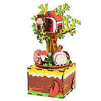 Музыкальная шкатулка-конструктор Домик на дереве (AM408)