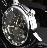 Часы Winner Skeleton Black Механика