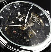 Часы Winner Skeleton Black Черные Скелетон. Механика
