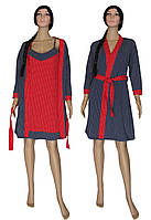 Комплект пеньюар женский 18002 Katty Red, хлопок, р.р.42-52, фото 1