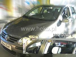 Дефлекторы окон (ветровики)  VW Golf-5 2004-> 5D 4шт (Heko)