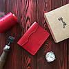 Обложка для паспорта из натуральной кожи (282008) - красная