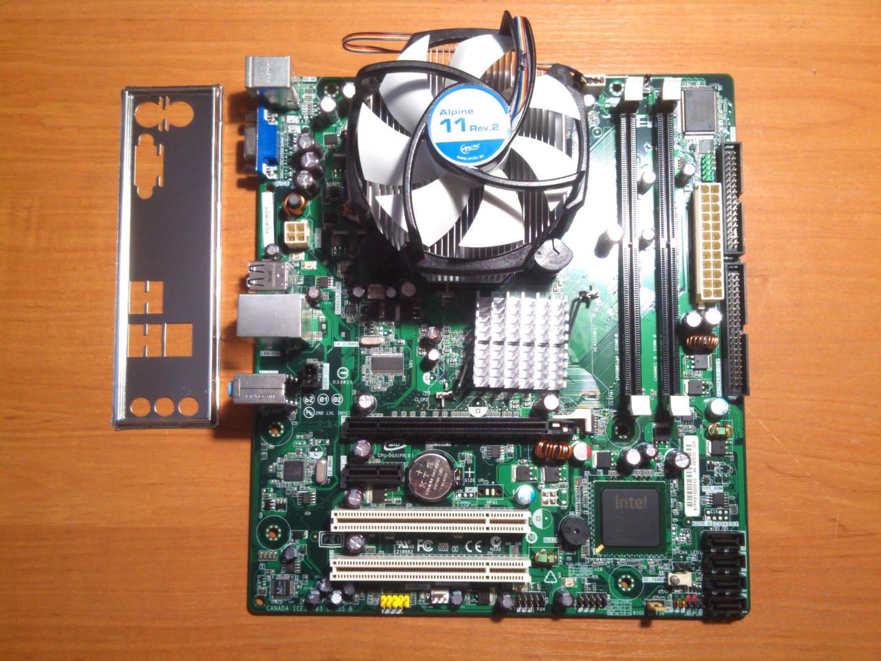 Intel DG31PR + Intel Xeon E5345 сокет 775 Гарантія!