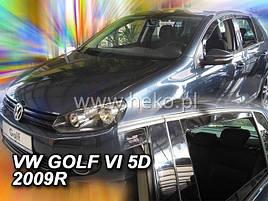 Дефлекторы окон (ветровики)  VW Golf-6 2008-> 5D 4шт (Heko)