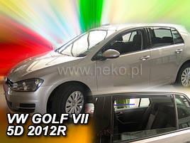 Дефлекторы окон (ветровики)  VW Golf-7 2012-> 5D 4шт (Heko)