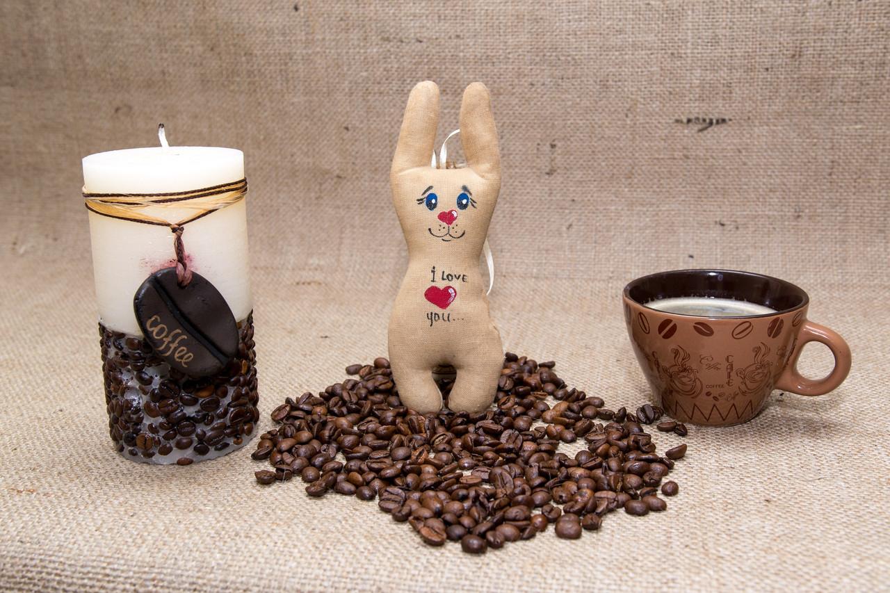 Кофейная игрушка Vikamade Зайка на магните средняя