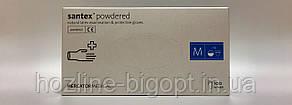 Santex Перчатки медицинские, латексные, припудренные,белые не стерильные M (7-8)