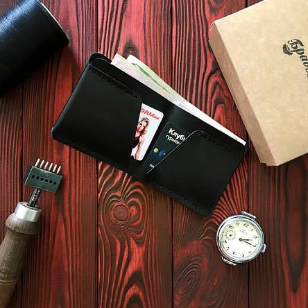 Кошелек БрадВей кожаный чёрный (281007), фото 2