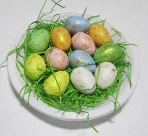 Яйца пасхальные 12 шт, Гнездо