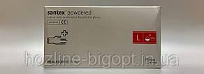Santex Перчатки медицинские, латексные, припудренные,белые не стерильные  L (8-9)