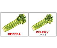 Картки Домана україно-англійські«Овочі/Vegetables» МІНІ 40, фото 1