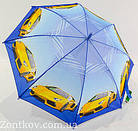 """Детский зонт для мальчика с мотоциклами и машинками на 5-9 лет от фирмы """"Swifts""""."""