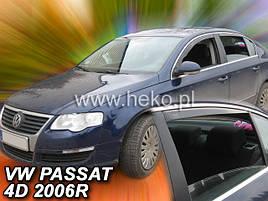 Дефлектори вікон (вітровики) VW Passat B6/В7 2005 -> 4D Sedan 4шт (Heko)