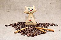 Кофейная игрушка Котик на магните.