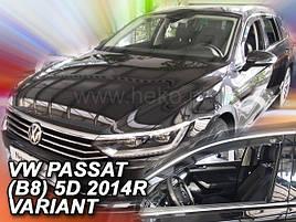 Дефлекторы окон (ветровики)   VW Passat B8 2014 -> 4D  Sedan 4шт (Heko)