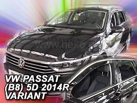 Дефлекторы окон (ветровики)   VW Passat B8 2014 -> 5D Variant 4шт (Heko)