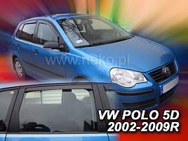 Дефлекторы окон (ветровики)   VW Polo 4  2001-2009 5D 4шт (Heko)