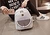 Городской рюкзак серый с жемчугами и блестками, фото 3