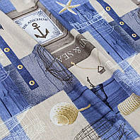 Ткань для штор в морском стиле Anchor