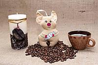 Кофейная игрушка-подвеска Vikamade Свинка позитив