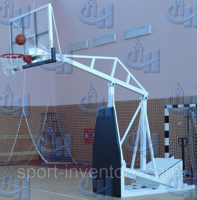 Стойка баскетбольная мобильная складная вынос 1,25 м, фото 1