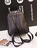 Городской рюкзак черный с блестками и жемчужинами, фото 2