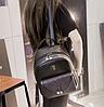 Городской рюкзак черный с блестками и жемчужинами, фото 3