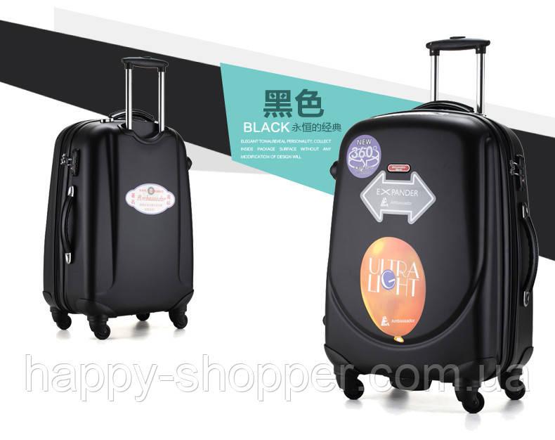 Набор из 3 чёрных чемоданов Ambassador Classic
