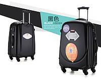 Набор из 3 чёрных чемоданов Ambassador Classic, фото 1