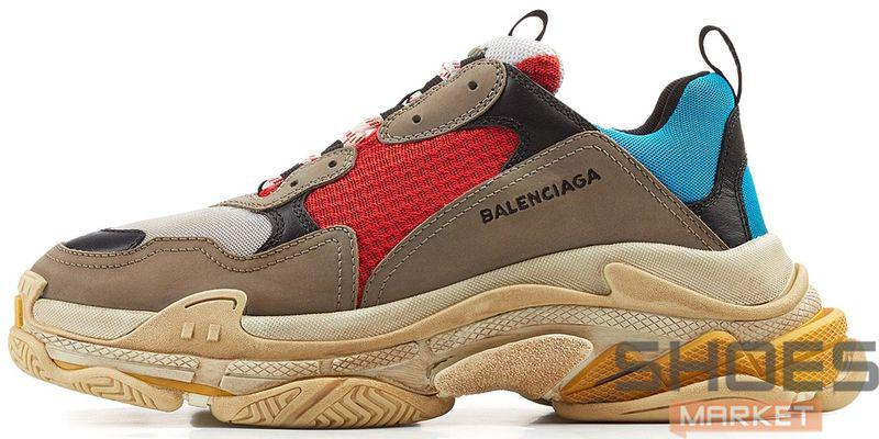 Мужские кроссовки Balenciaga Triple S Colorways 512175 W09O2 4365, Баленсиага Трипл С