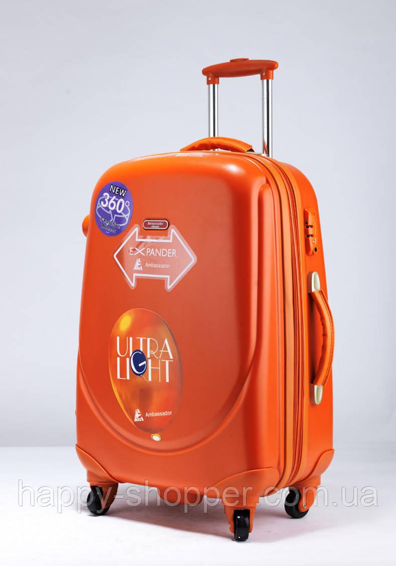 Большой оранжевый чемодан Ambassador Classic