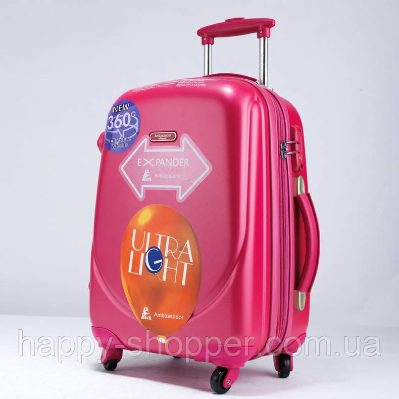 Средний розовый чемодан Ambassador Classic