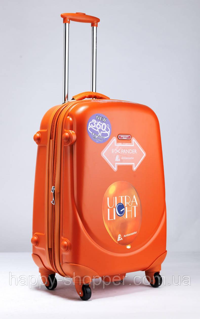 Средний оранжевый чемодан Ambassador Classic