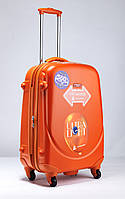 Средний оранжевый чемодан Ambassador Classic, фото 1