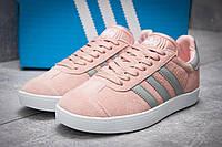 Кроссовки женские в стиле Adidas Gazelle, розовые (11893),  [  41 (последняя пара)  ], фото 1
