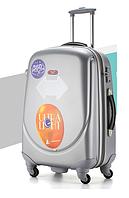 Средний светло-серый чемодан Ambassador Classic , фото 1