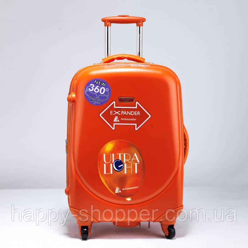 Малый оранжевый чемодан Ambassador Classic