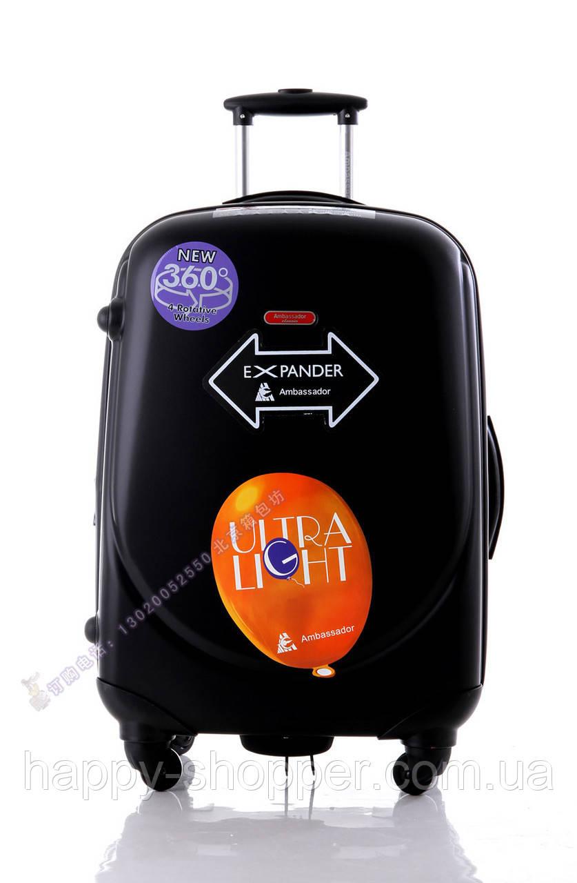 Малый чёрный чемодан Ambassador Classic