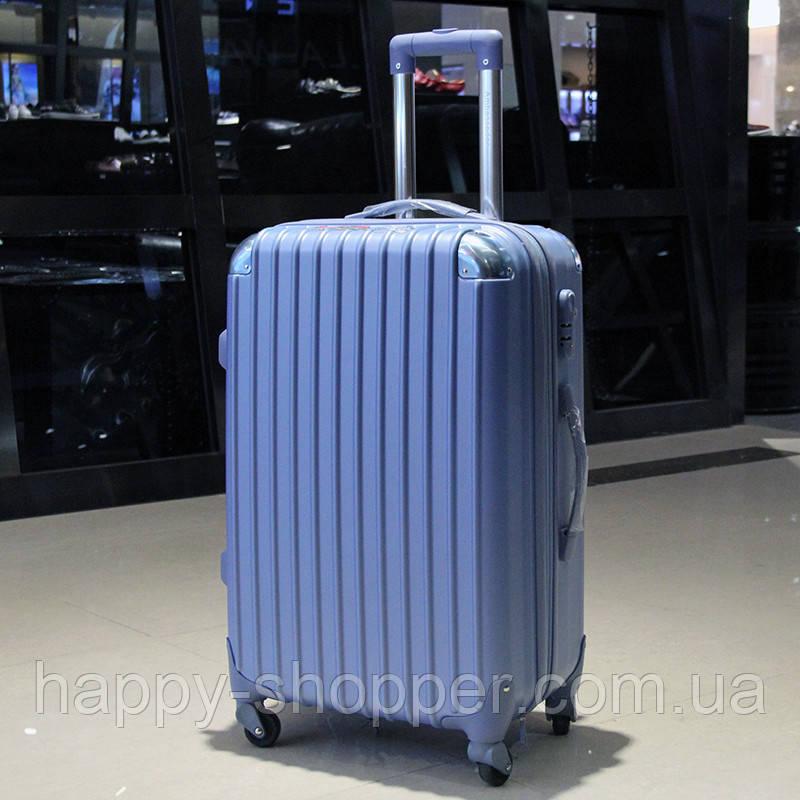 Средний голубой чемодан Ambassador® Scallop