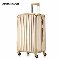 Большой золотистый чемодан Ambassador® Scallop, фото 1