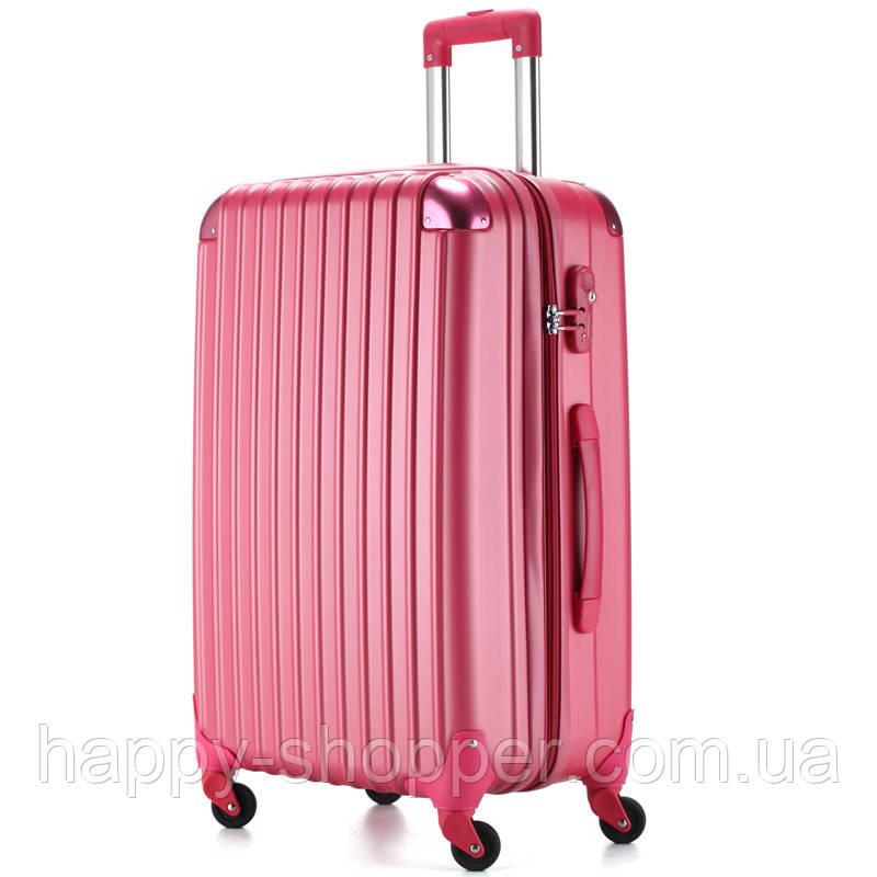 Большой малиновый чемодан Ambassador® Scallop