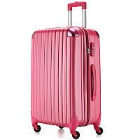 Большой малиновый чемодан Ambassador® Scallop, фото 1