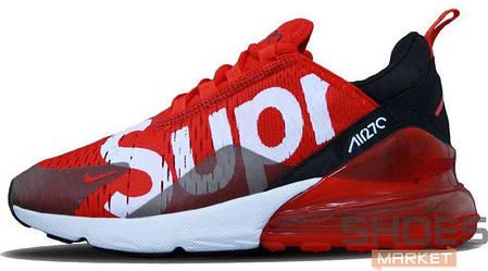 Женские кроссовки Nike Air Max 270 X Supreme Red, фото 2