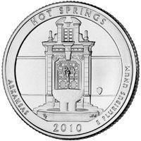 США 25 центов 2010, 1 Парк Национальный парк Хот-Спрингс